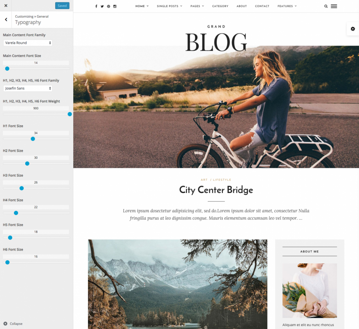 Customize  Grand Blog   Responsive Blog Theme   Just another WordPress site
