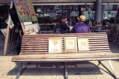 Artistas en el Puerto de Barcelona