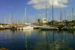 Veleros en el Port Vell de Barcelona